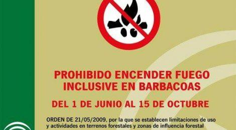 Andalucía se encuentra en época de peligro alto de incendios forestales desde el 1 de junio hasta el 15 de octubre