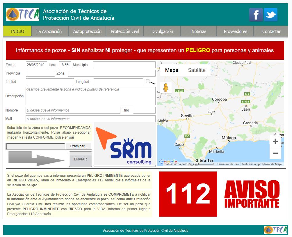 Localización Pozos peligrosos -ATPCA – SRM – VOSTSPAIN – InfoEMERGENCIAS